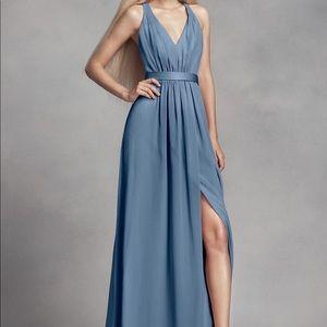 Vera Wang DB Long Chiffon Dress w/ Crisscross Back